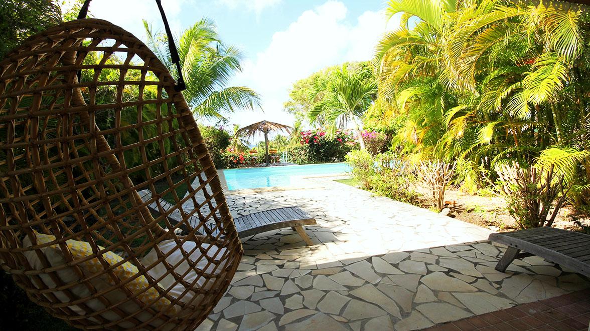 Vue sur la piscine privative - Villa Caraïbes - Location de villas et maisons en Guadeloupe - www.villacaraibes.fr