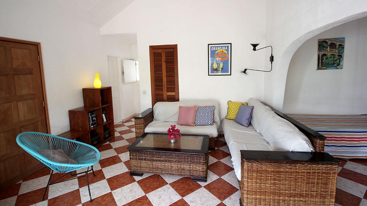 Grand Salon - Villa Caraïbes - Location de villas et maisons en Guadeloupe - www.villacaraibes.fr