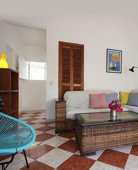 Le salon et la cuisine - Villa Caraïbes
